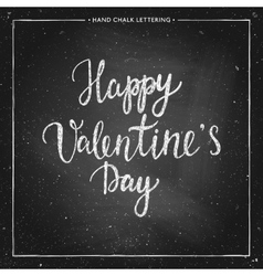 Chalk lettering - valentines day vector