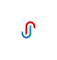 circle line business company logo vector image