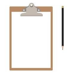 Clipboard and pencil vector