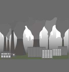 clouds of smoke from factory chimney vector image