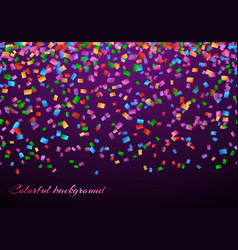 Confetti in air pattern vector