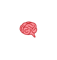 creative smart brain organ logo design vector image