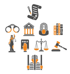 crime and punishment concept vector image