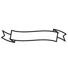 decorative ribbon icon vector image