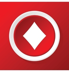 Diamonds icon on red vector