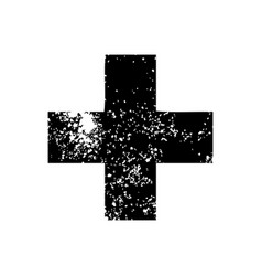 Distressed symbol addition symbol vector