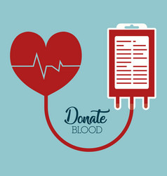 Donation blood design vector