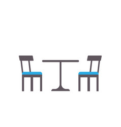empty design table with soft chairs vector image