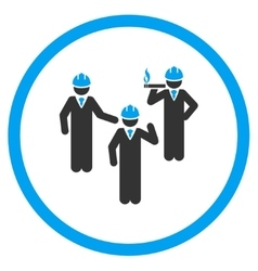 Engineer Discussion Icon vector