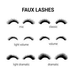 Eyelash faux or false lash logo or icon vector