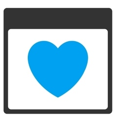 Favourite Heart Calendar Page Toolbar Icon vector