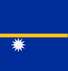 flag of nauru vector image