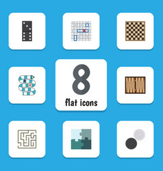 flat icon play set of multiplayer sea fight vector image