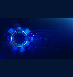 Futuristic technology dark blue abstract vector