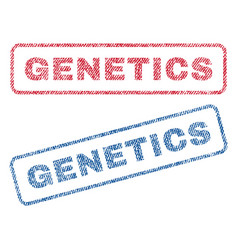 Genetics textile stamps vector