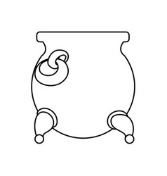gold pot isolated vector image