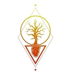 Heart tree as a symbol life vector