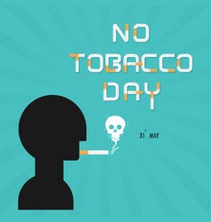 Human head and quit tobacco logo design vector