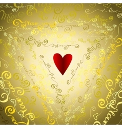 I love you words background vector image
