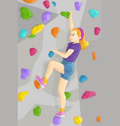 Indoor rock climber vector