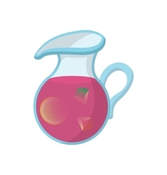 Jar of fresh sangria icon cartoon style vector