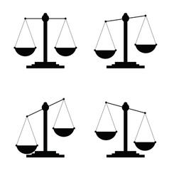 Judge icon in black color vector