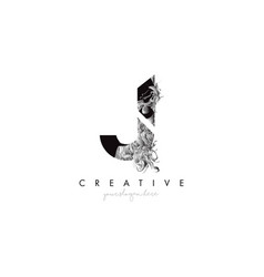 Letter j logo design icon with artistic grunge vector