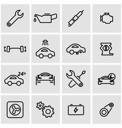 line car service icon set vector image