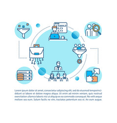 Marketing strategy concept icon with text vector
