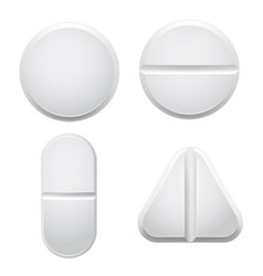 Medical pills mockups set vector