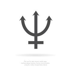 Neptune symbol icon vector