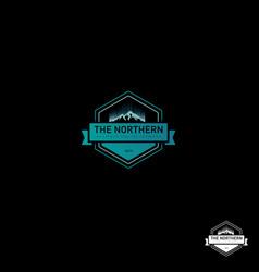 Northern lights logo design vector