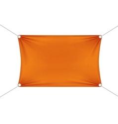Orange Blank Empty Horizontal Rectangular Banner vector