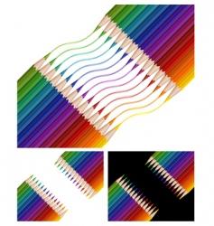 pencils drawing rainbow vector image