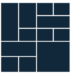 photo collage mosaic grid template board picture vector image