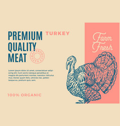 premium quality turkey abstract meat vector image