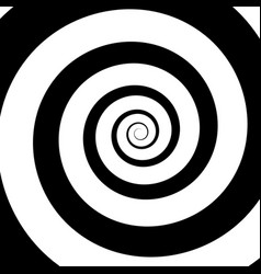 psychedelic spiral with radial ray vector image