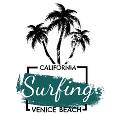 quote typographical background about surfing vector image
