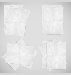realistic papers vector image
