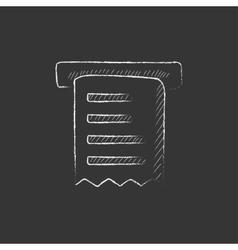 Receipt Drawn in chalk icon vector