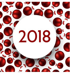 red 2018 new year card vector image