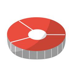 Salmon slice isolated icon vector