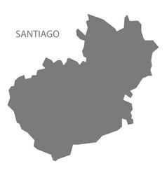 Santiago dominican republic map grey vector