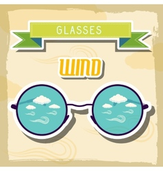 Set retro glasses background concept vector