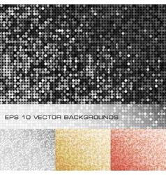 Set sparkle sequin backgrounds vector