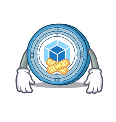 silent webpack coin mascot cartoon vector image