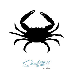 Silhouette crab crab badge for design seafood vector