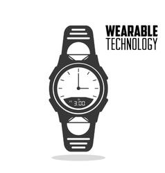 Smart watch accesorie wearable technology vector