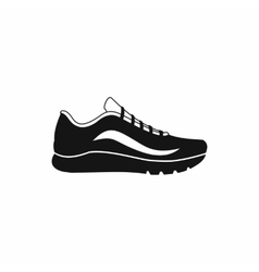 Sport shoes icon simple style vector