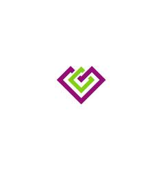 square geometry construction company logo vector image